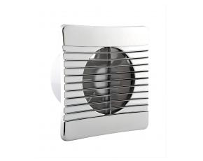 100mm Slim Axial Fan with Chrome Grille Timer and Backdraught Shutter