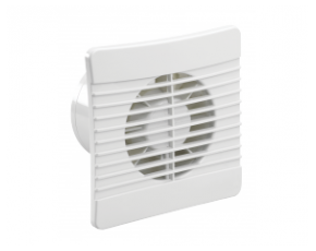 100mm SELV Low Profile Axial Fan with Pullcord, Humidistat and Backdraught Shutter