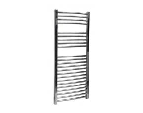 Curved Chrome Towel Rail - 250W